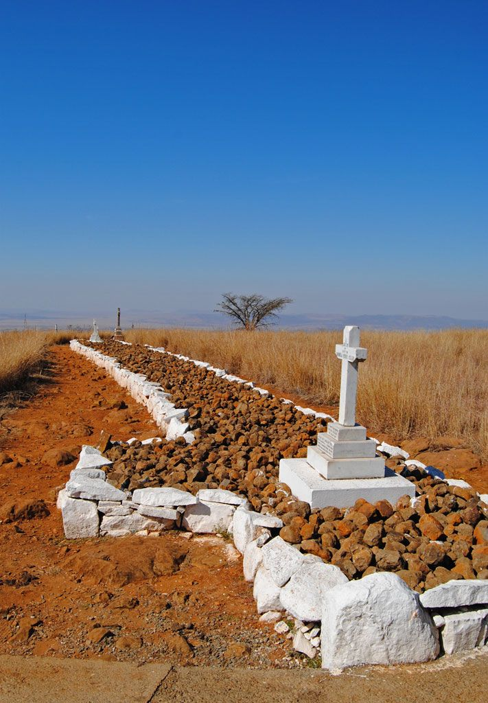 Spion Kop Battlefield, South Africa Where the Boers Defeated the British. [The Battle of Spion Kop (Dutch: Slag bij Spionkop; Afrikaans: Slag van Spioenkop) was fought about 38 km (24 mi) west-south-west of Ladysmith on the hilltop of Spioenkop(1) along the Tugela River, Natal in South Africa from 23–24 January 1900. It was fought between the South African Republic and the Orange Free State on the one hand and British forces during the Second Boer War campaign to relieve Ladysmith].