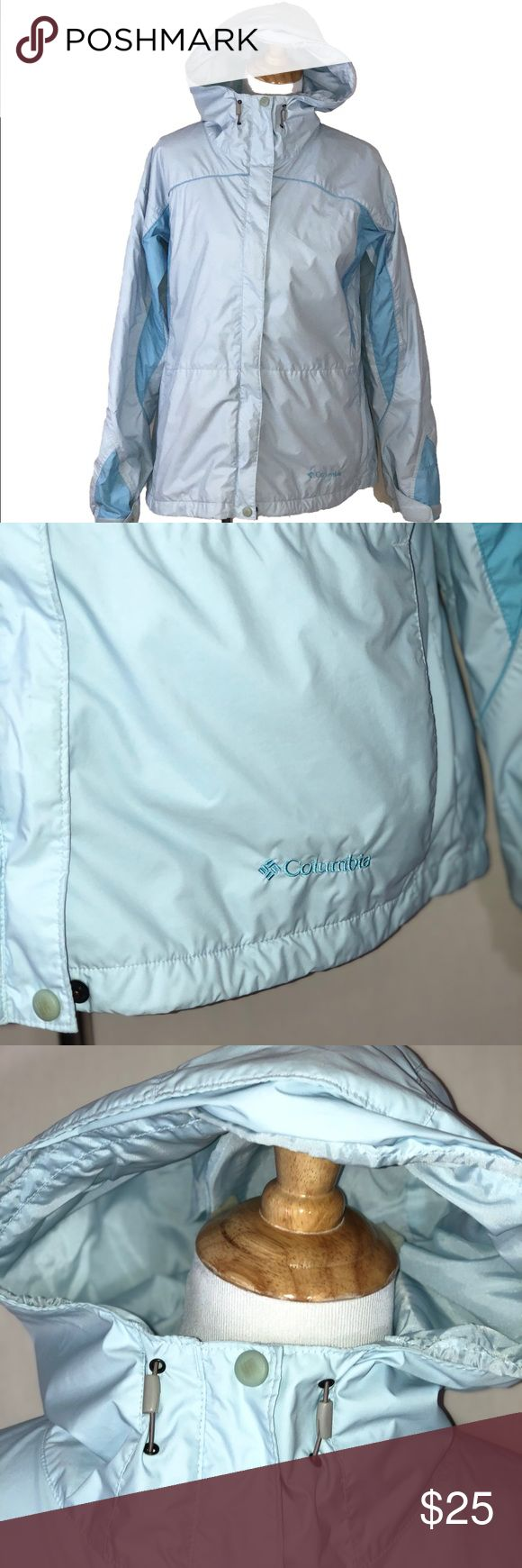 "Columbia Sportswear Storm Dry Jacket Columbia Sportswear Womens Jacket  Size Large  Storm Dry   Waterproof  Breathable Fabric   Mesh Lining   Packable   Spot For Headphones  Zip Fleece Lined Pockets on Outside  Zip Front With Velcro Closure   Gently Worn- Has a Small spot on Front, Still In Great Condition   Pit to Pit: 21 1/2""  Length:25""  (B1) Columbia Jackets & Coats Utility Jackets"