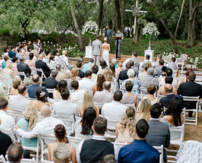 Outdoor ceremony - Oakfield Farm