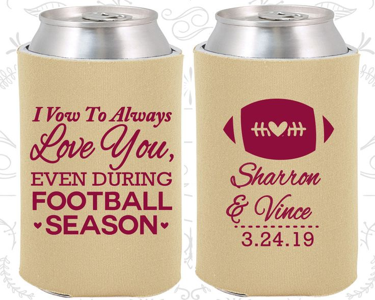 I Vow to Always Love You, Even During Football Season, Custom Wedding Gift, Football Wedding Gift, Sports Wedding Gift, Custom Koozies (302)