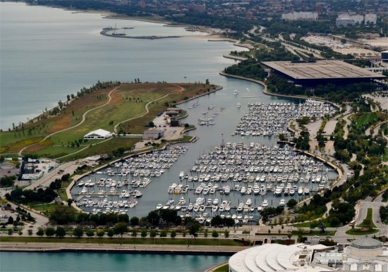 Burnham Harbor, Chicago is among the finest of marinas on the Great Lakes.