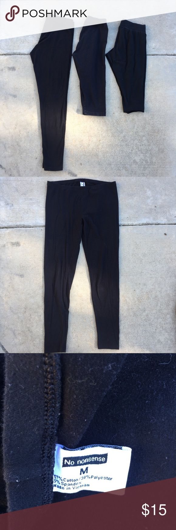 3 for $15 Black Leggings size M 3 for $15 Black Leggings size M  The bundle cons...