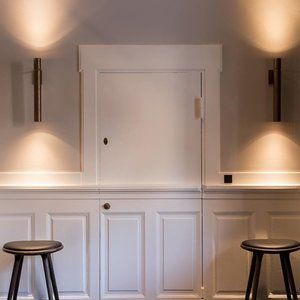 Details from our lighting project at beautiful @ascot_hotel_copenhagen  Tubular lights from HENGE  Interior design by @helleflou  Image by @juliebjarnhoff #legiodk #legioproject