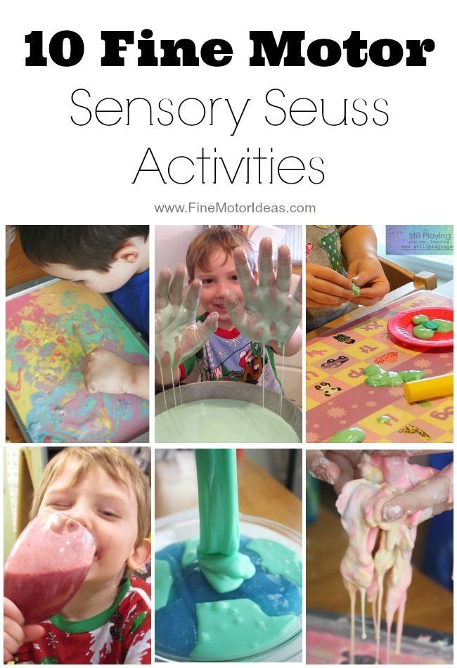 10 Fine Motor Sensory Seuss Activities Activities Fine