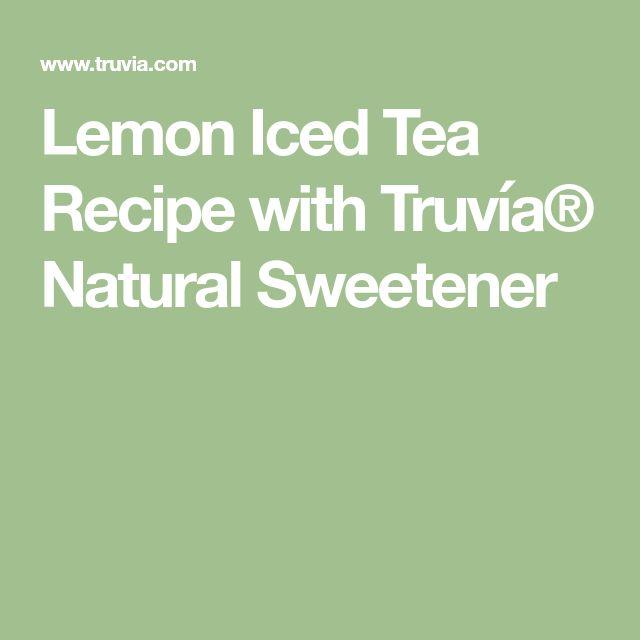 Lemon Iced Tea Recipe with Truvía® Natural Sweetener