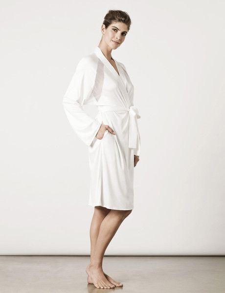London Robe Moon White : Luxury Sleepwear