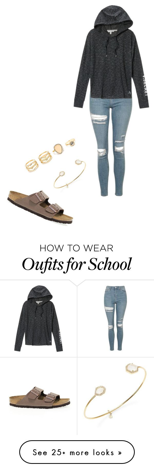 """""""School #33"""" by annao133 on Polyvore featuring Birkenstock, Topshop, Victoria's Secret, LULUS and Tai"""