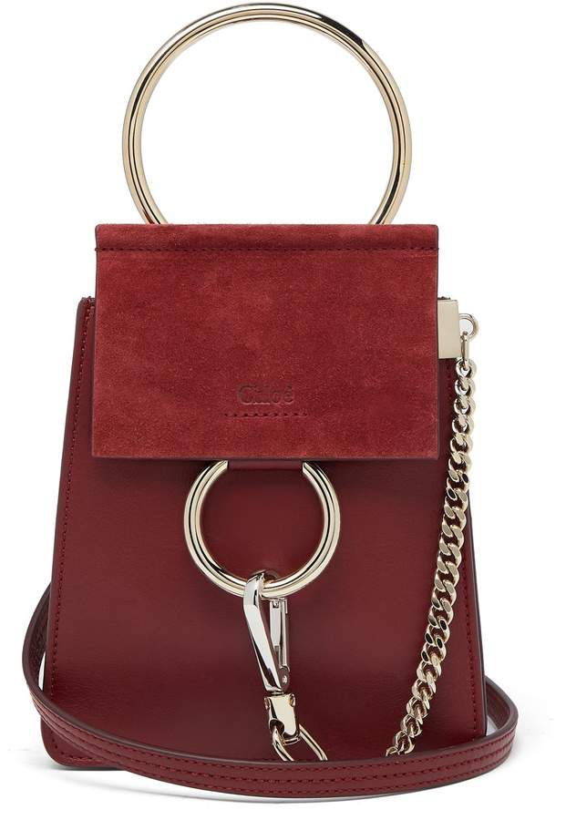 d6c2a77bb5 CHLOÉ Faye mini suede-panel leather cross-body bag