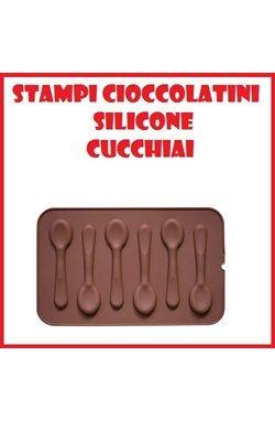 Stampi in silicone per cucchiaini al cioccolato