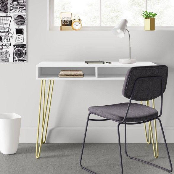 Hair Pin Writing Desk Room Essentials Desk In Living Room Hair Pin Desks Brown Rooms