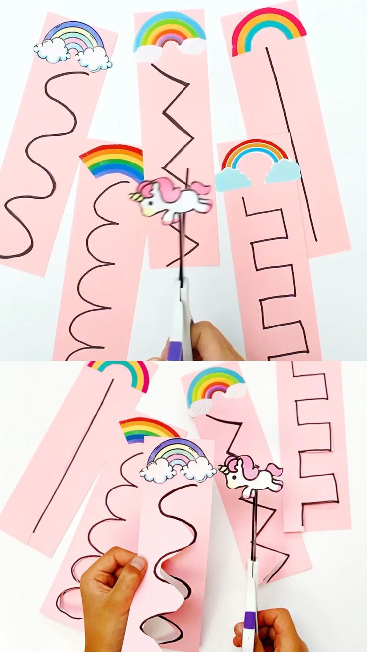 Unicorn Rainbow Scissor Cutting Activity