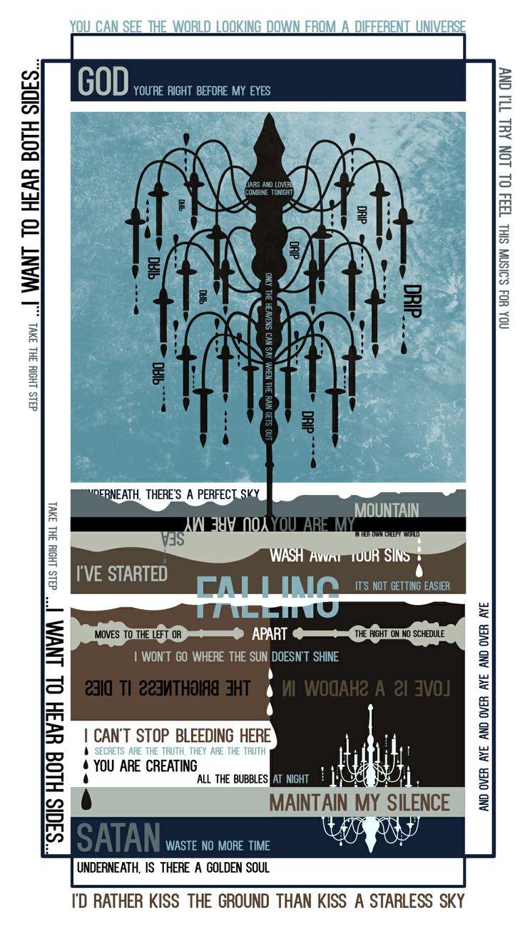 Biffy Clyro Simon Neil Opposites Fan Art Typography Poster Mon the Biff Graphic Design Artwork
