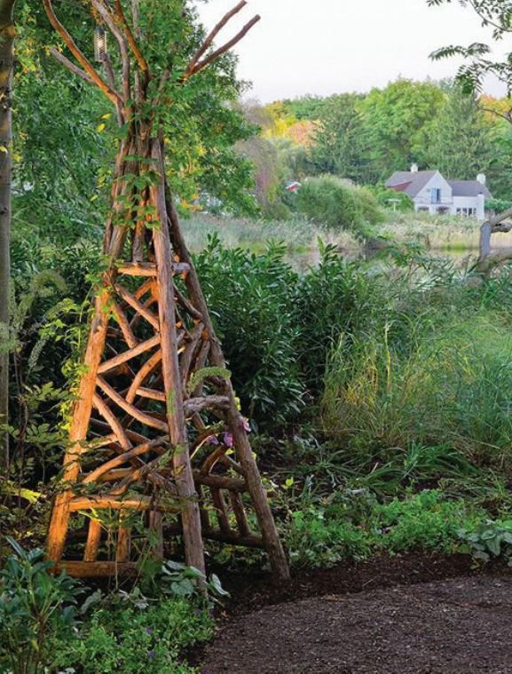 17 best images about just twigs trellis fence arbor for Garden folly designs