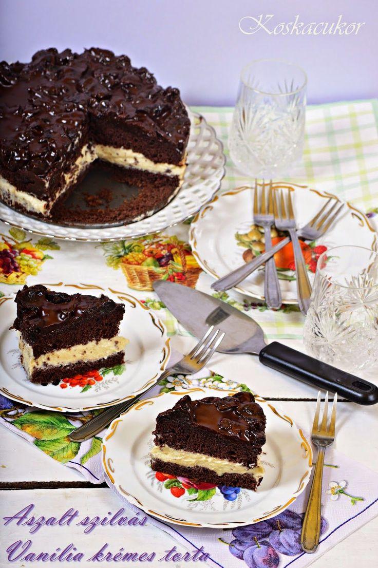 Koskacukor: Aszalt szilvás, vanília krémes torta