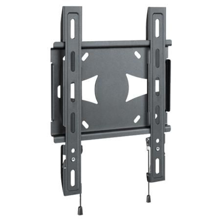 Holder LCDS-5045  — 798 руб. —  Телевизионный кронштейн HOLDER LCDS-5045 (19? – 40? и нагрузка до 45 кг.) - универсальный настенный кронштейн для плоскопанельных телевизоров. Регулировка наклона и поворота отсутствует. Материал каркаса - металл. Полный набор фурнитуры для быстрого и простого монтажа включен в комплект поставки Holder LCDS-5045.  Преимущества:  - супертонкий: телевизор крепится вплотную к стене - безопасный: фиксирующий механизм надежно удерживает телевизор - легкая…