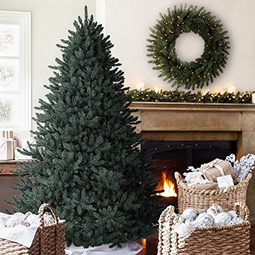Buying Christmas trees online is more popular than ever.  It is convenient, easy and very affordable.  A great option for those with Pine allergies.  I love the look of artificial Christmas trees especially the pre-lit ones as they are the easiest.  I also love all the colors and types available from tinsel trees to more abstract #Christmas trees for Xmas 2017    6.5' Balsam Hill Blue Spruce Artificial Christmas Tree Unlit