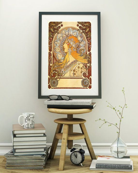 ALPHONSE MUCHA Print Art Nouveau poster Wall by VintageArtPosters