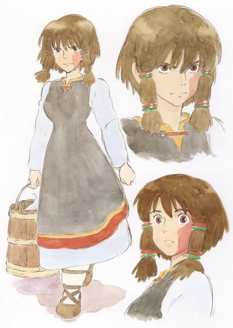 Flooby Nooby: The Art of Studio Ghibli - Part 7. -- Japanese films, Tales from Earth Sea, character reference sheet