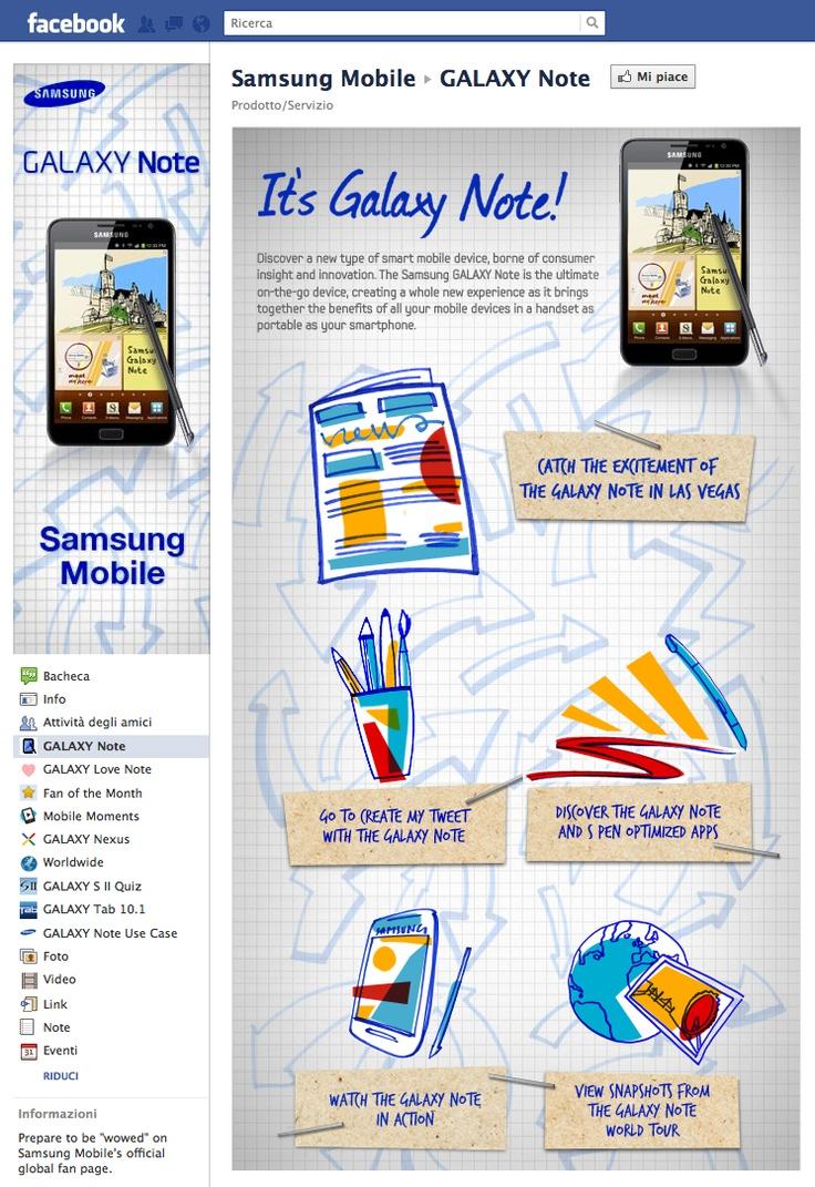 Tab Facebook: Samsung Mobile