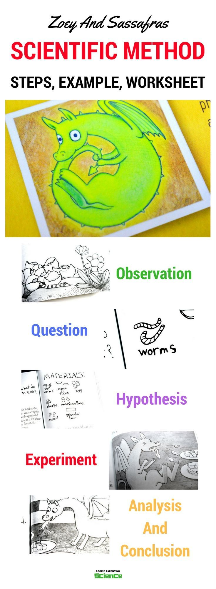 Scientific Method Worksheet - Steps And Example #ScienceFair #STEM #rookieparentingscience