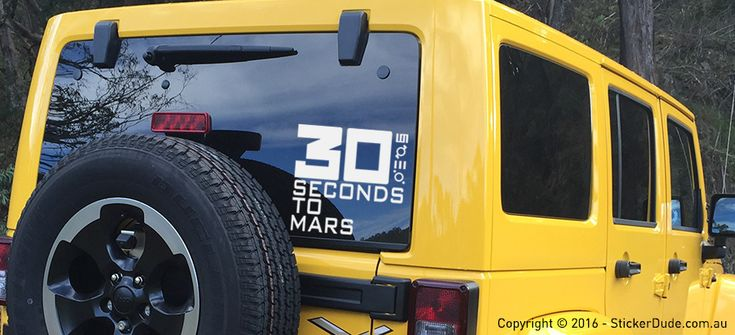 30 Seconds To Mars Sticker | Worldwide Post | Range Of Colours