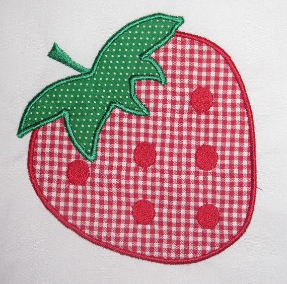 Summer strawberry machine embroidery design applique for Appliques exterieures design