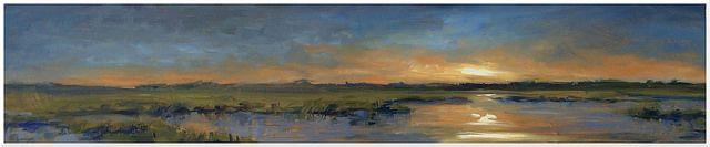Nightfall | Impressionist Landscape by Kevin LePrince,
