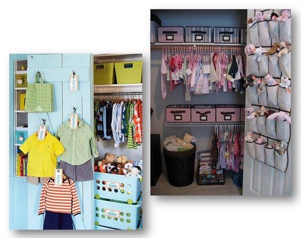 Ideas para organizar el armario y la ropa de tu beb - Como vestir un armario ...