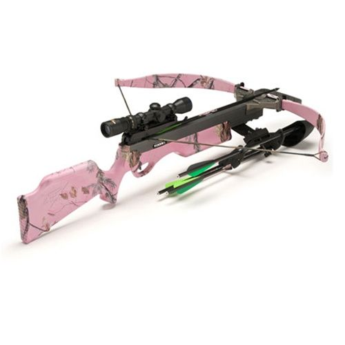 I feel like this should be part of my life    Excalibur 2012 Vixen II Pink Camo Crossbow Varizone Lite-Stuff Package