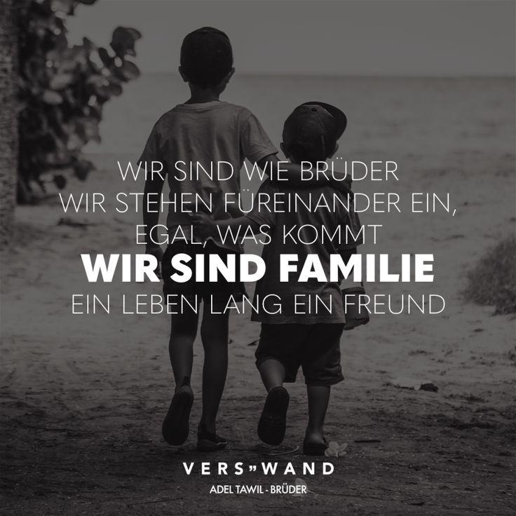 Visual Statements®️ Wir sind wie Brüder wir stehen