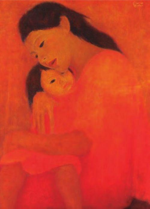 Mario Escobar |1915-1982| Salvadoran Dos Rosas| sin fecha| Óleo sobre lienzo| Donación de Titi Escalante Colección MARTE