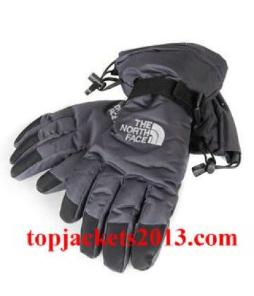 The North Face Outlet Mens Gore Tex Glove Grey Black