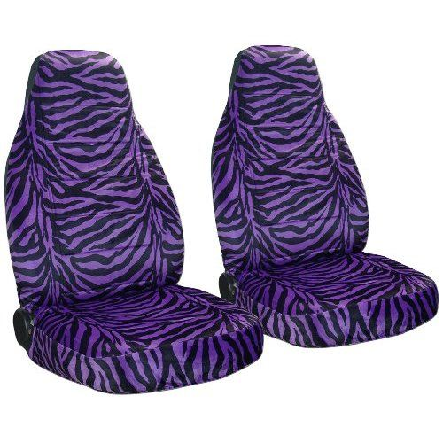 purple seat covers | Purple and black Zebra seat covers. 40/20/40 seat covers for a Ford F