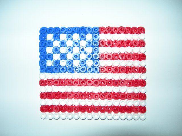 Amerikaanse vlag van strijkkralen