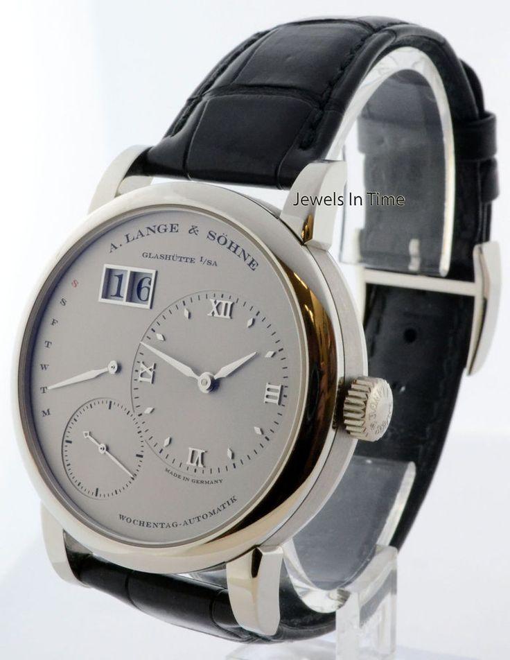 A. Lange & Sohne Lange 1 Daymatic Platinum Watch Box/Papers 320.025 #ALangeSohne #LuxuryDressStyles