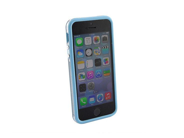Bumper iPhone 5/5S transparant Blauw