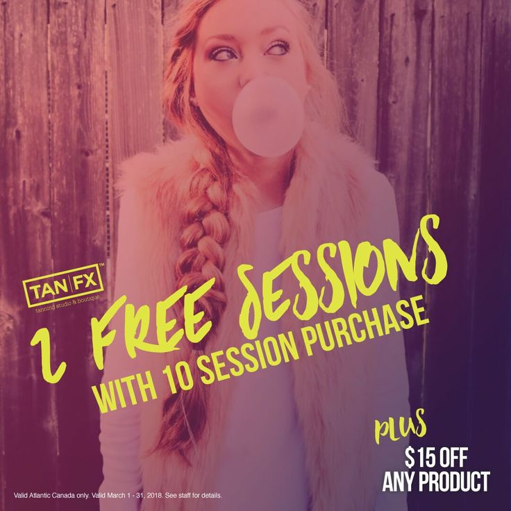 Get 2 free sessions with 10 session purchase at Tan FX Dartmouth this month! Find us: https://tanfx.ca/locations/tan-fx-dartmouth/?utm_content=buffer8bf5a&utm_medium=social&utm_source=pinterest.com&utm_campaign=buffer
