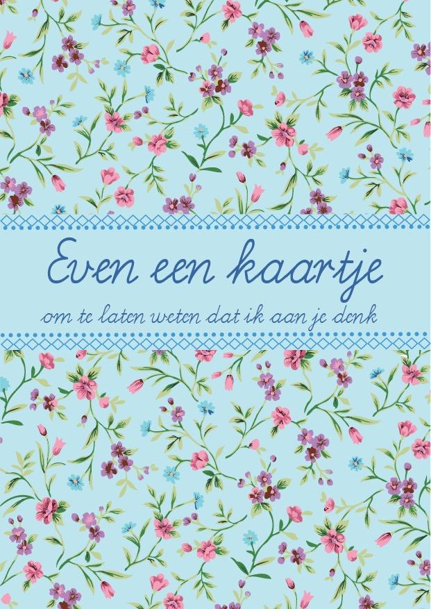 Postpapier enzo ansichtkaart 'Even een kaartje om te laten weten dat ik aan je denk' http://www.postpapierenzo.nl/search/564/565/price_asc/