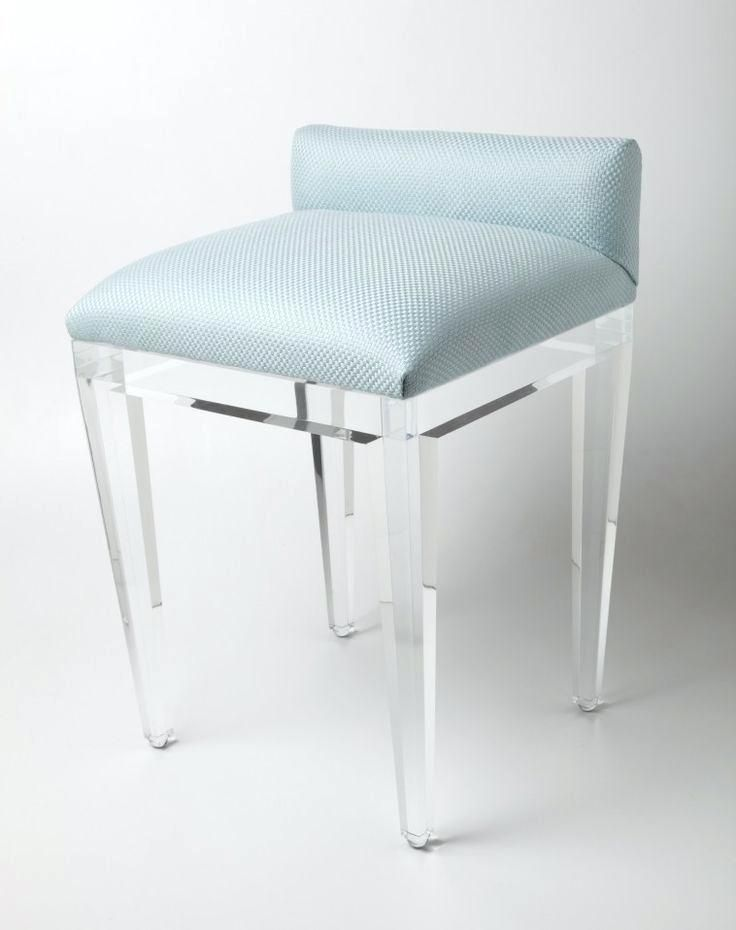 Groovy Ariel Modern Stainless Steel And Fabric Vanity Stool Modern Machost Co Dining Chair Design Ideas Machostcouk