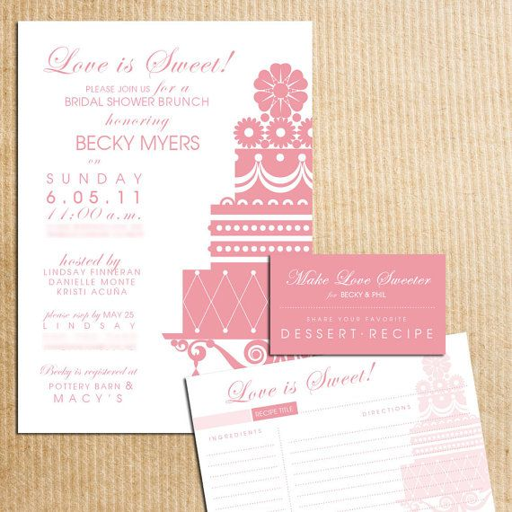156 best Wedding Printables images on Pinterest Bridal parties - bridal shower invitation samples
