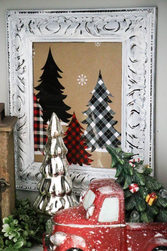 Diy Christmas Box Sign Christmas Home Decor Pinterest
