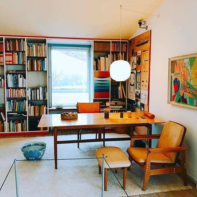 나중에 이런 #서재 공간 갖고싶다.  가구도 구조도 너무나도 맘에드는 공간. #finnjuhlshouse #cophenhagen
