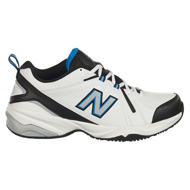 New Balance Men\u0027s 608 V4 Medium/Wide/X-Wide Sneakers (White/Royal)