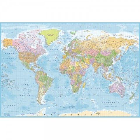 Världskarta Bauhaus