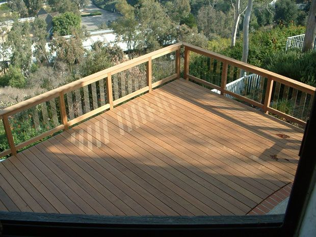 Another Cool Railing Idea Deck Design Deck Footings
