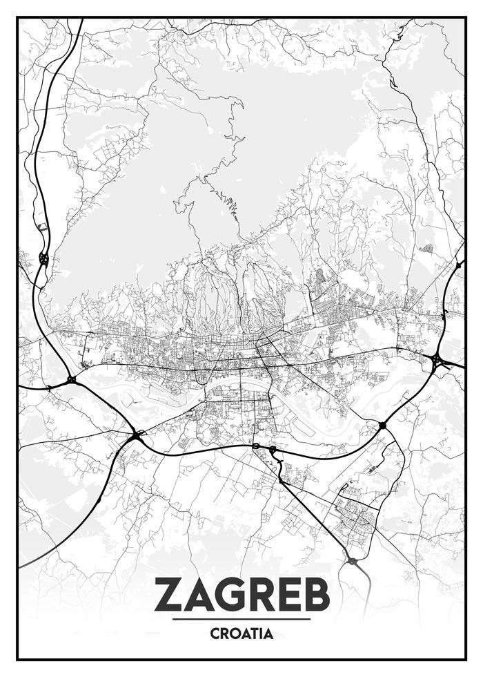 Pin By Jelena Strinic Luetic On Alphabet Poster Map Wall Art Decor City Maps Map Wall Art