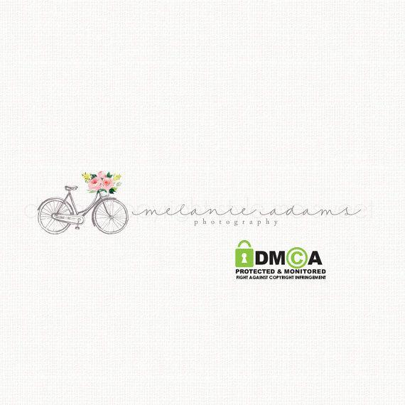 vintage bicycle logo photography logo by stylemesweetdesign