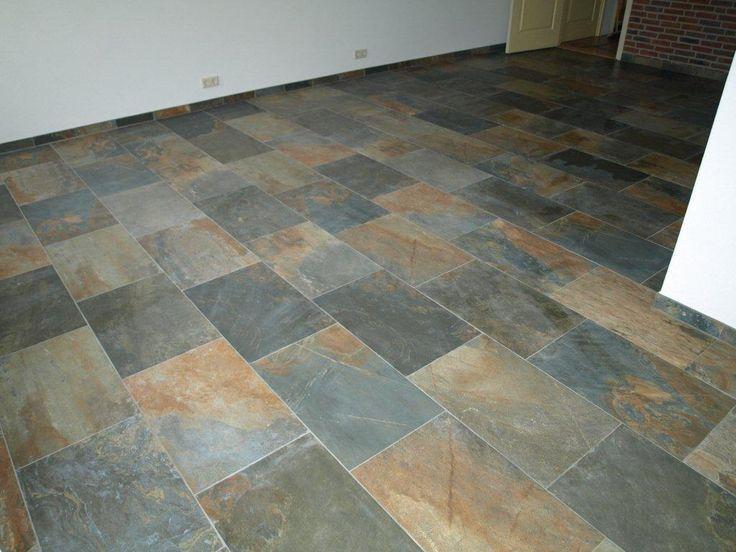 ... tegels, Leistenen vloer keuken en Leisteen tegels in de badkamers