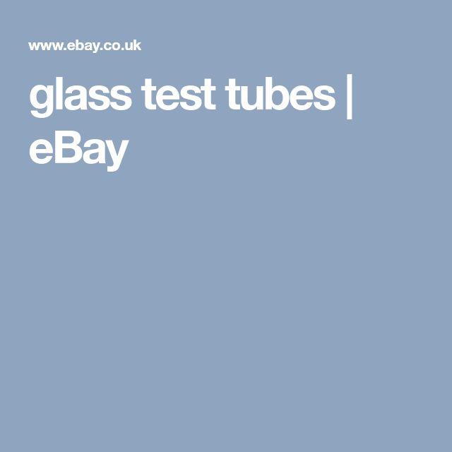 glass test tubes | eBay