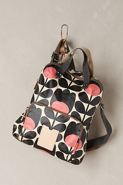 orla kiely stem backpack I need this, love the pink and black